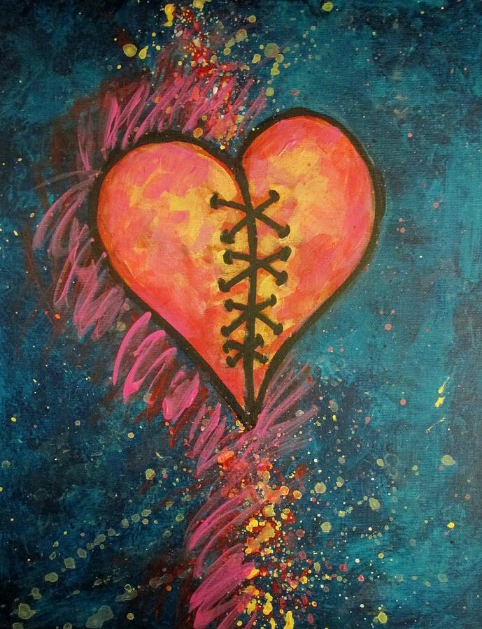 Mended Broken Heart Painting