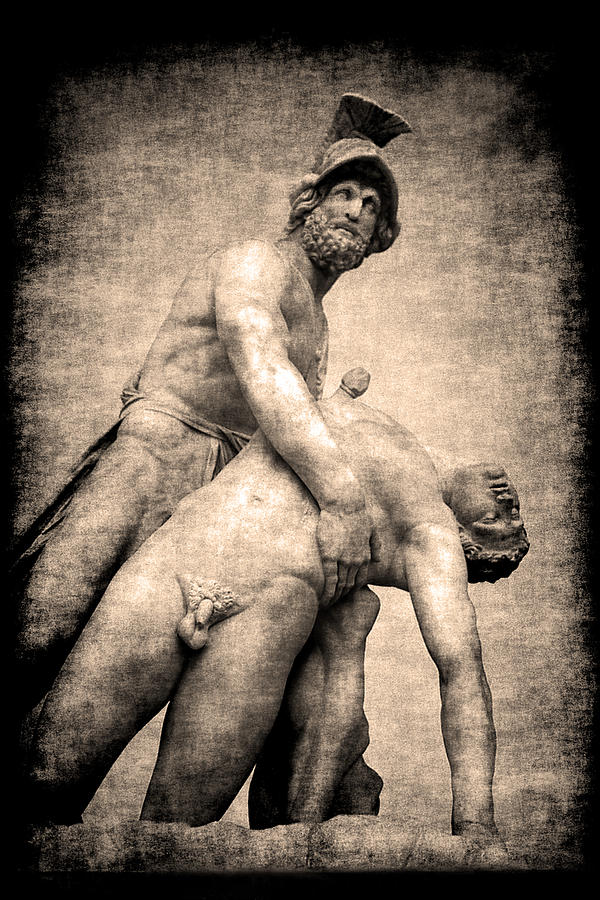 Pictorial Photograph - Menelaus And Patroclus In Florence by Jennifer Wright