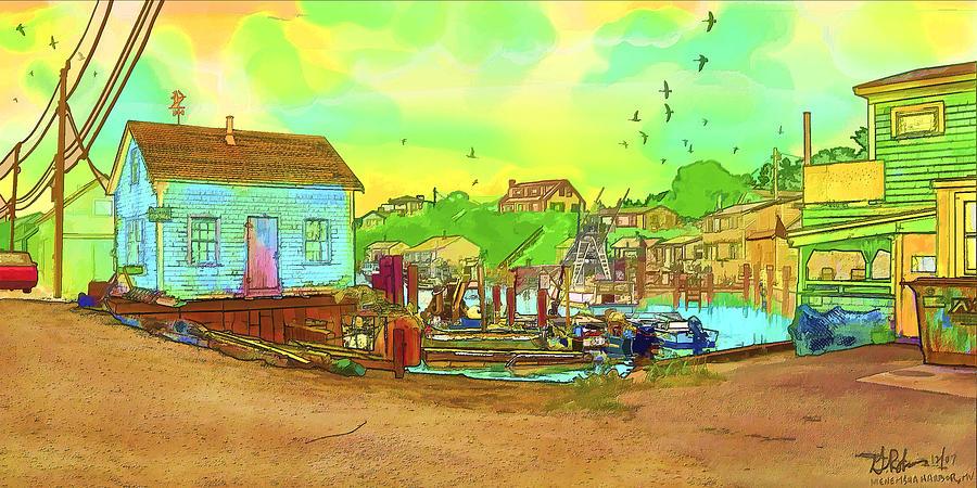 Art Painting - Menemsha Harbor by Gerry Robins