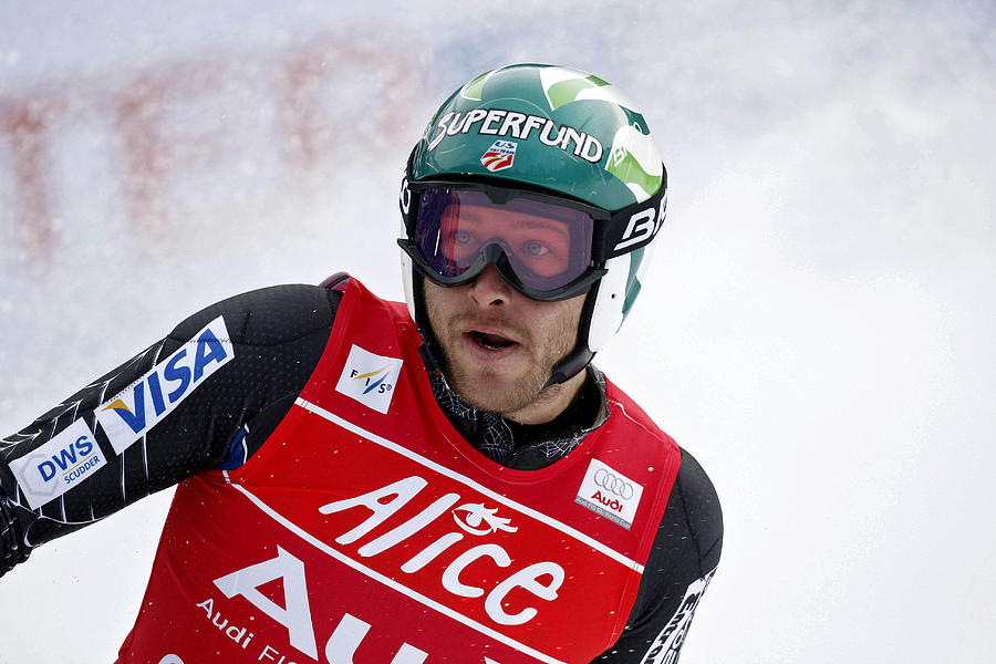 Mens FIS Skiing World Cup - Super Combined Downhill Photograph by Agence Zoom