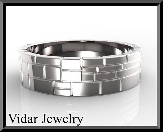 Bridal Jewelry Jewelry - Mens Wedding Ring - Silver Wedding Ring by Roi Avidar