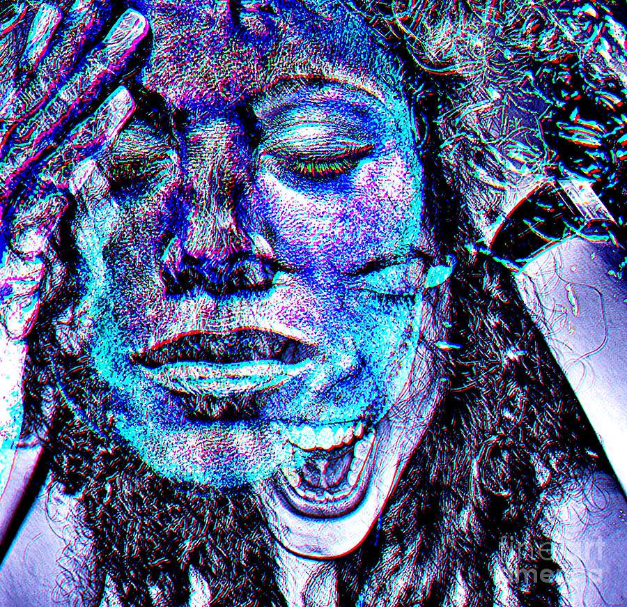 Woman Digital Art - Mental Adversity by Kandayia Ali