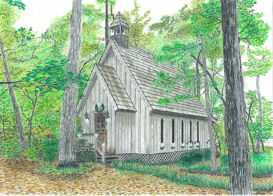 Mentone Wedding Chapel Mixed Media by Cloud Farrow