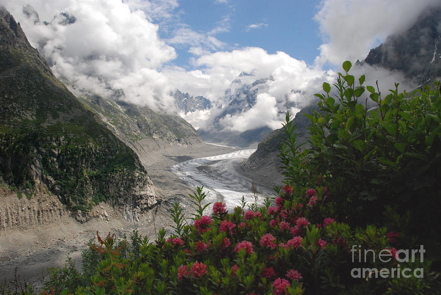 Glacier Photograph - Mer De Glace - Sea Of Ice by Camilla Brattemark