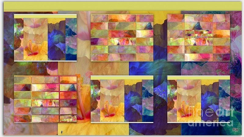 Tutti Colore Favolosi Blu Giallo Roso  La Rosa Viola Verde Oliva Turchese Bianco Digital Art - Meraviglia Favoliosa  by Halina Nechyporuk