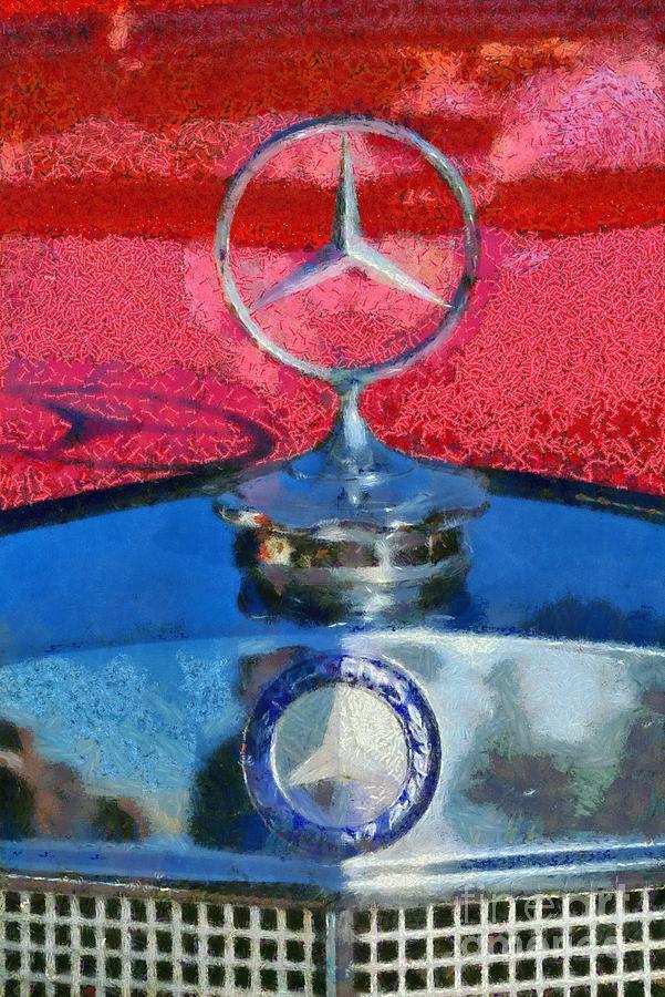 Classic Painting - Mercedes Badge by George Atsametakis