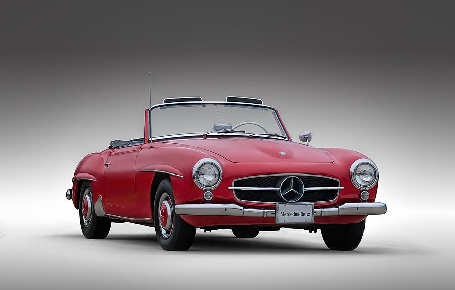 Mercedes Digital Art - Mercedes-benz 190 Sl by Douglas Pittman