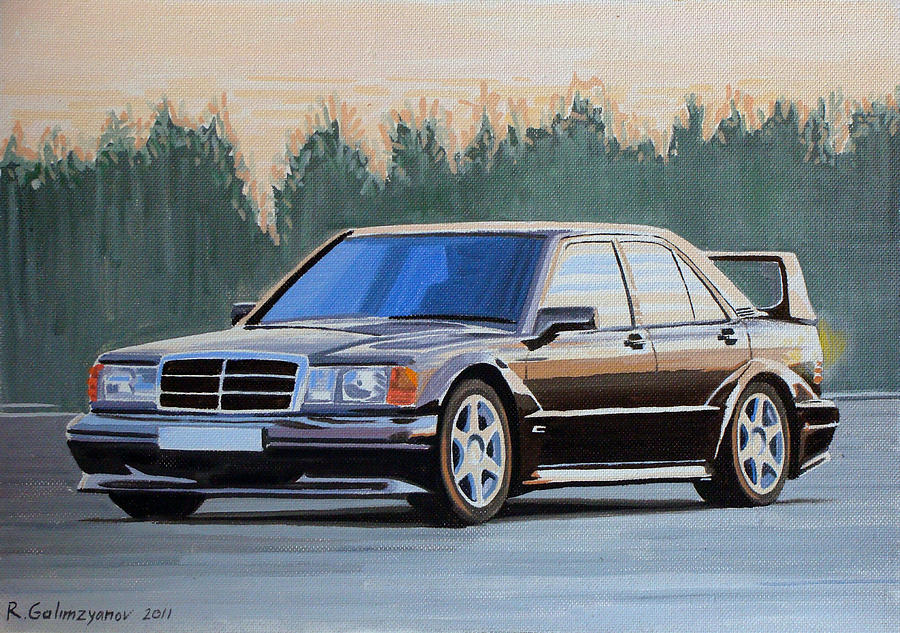 Mercedes Benz 190e Evolution Ii Painting By Ildus Galimzyanov