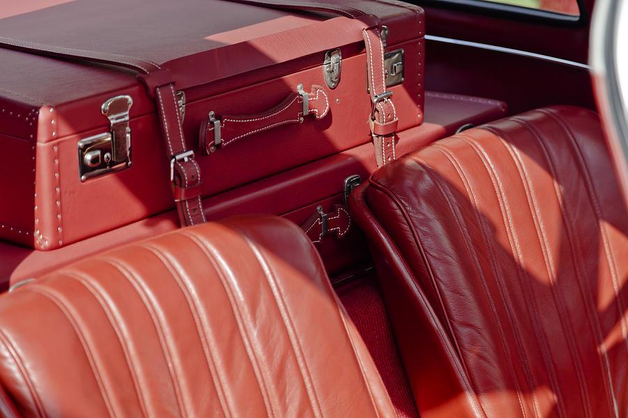 Mercedes benz 300 sl gullwing 1956 suitcase photograph by for Mercedes benz suitcase