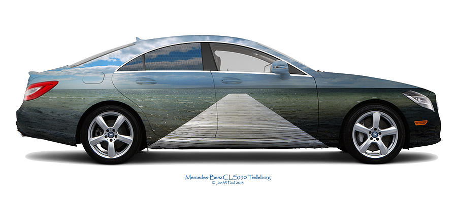 Travel Photograph - Mercedes-benz Cls550 Trelleborg by Jan W Faul