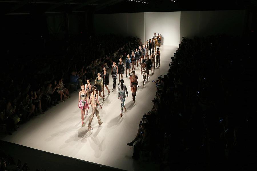 Mercedes-benz Fashion Week Spring 2015 Photograph by Pete Savignano