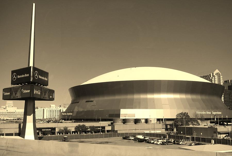 mercedes benz superdome new orleans la photograph by
