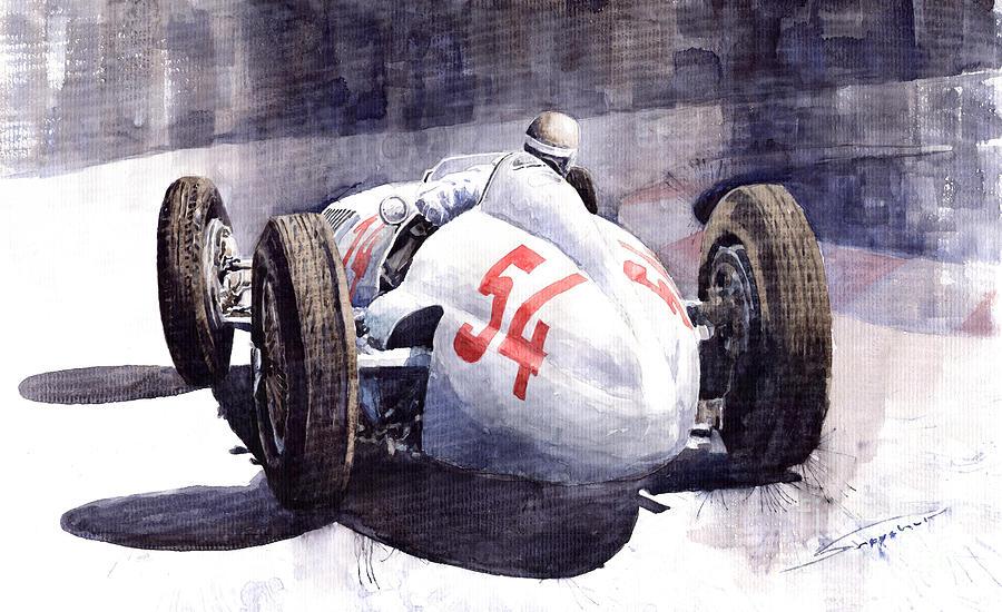 Auto Painting - Mercedes Benz W 154 1938 M Von Brauchisch by Yuriy Shevchuk