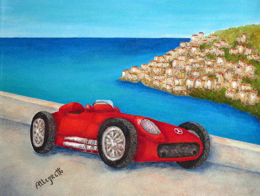Automobile Painting - Mercedes Benz W196 Formula by Pamela Allegretto