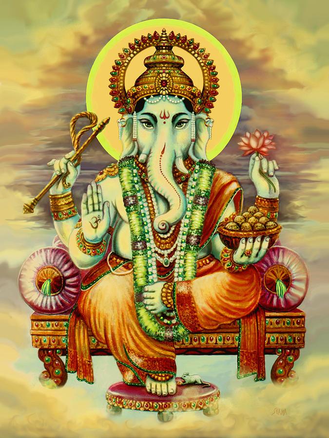 Merciful Ganesha Painting By Svahha Devi