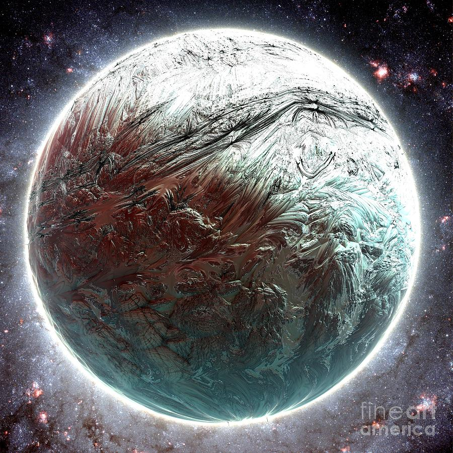 Digital Digital Art - Mercury Planet by Bernard MICHEL