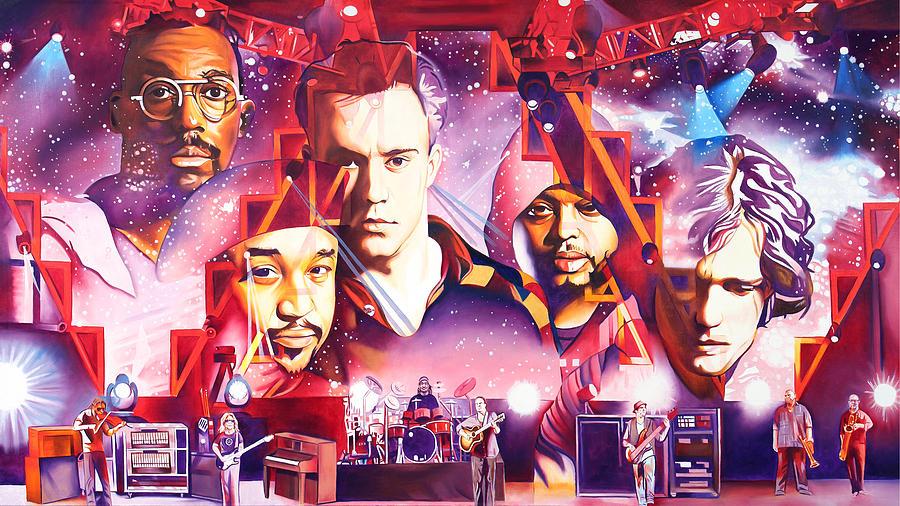 Dave Matthews Band Painting - Mercy by Joshua Morton