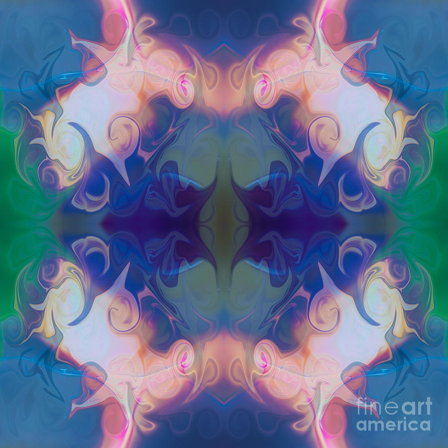 1x1 Painting - Merging Fantasies Abstract Pattern Artwork By Omaste Witkowski by Omaste Witkowski