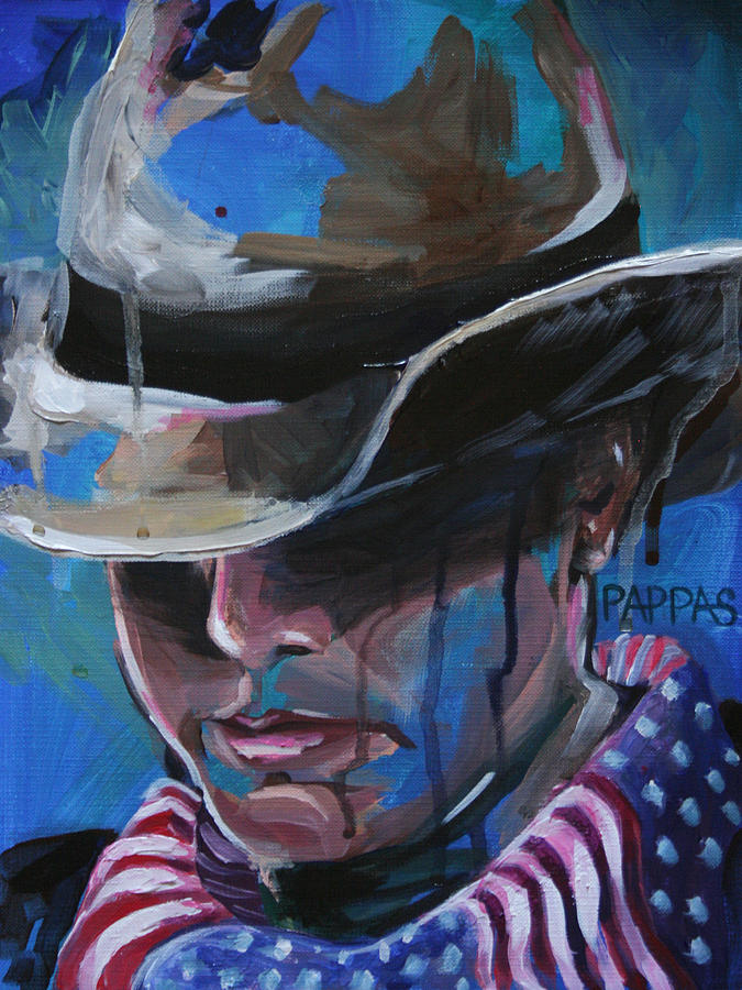 Painting Painting - merica by Julia Pappas