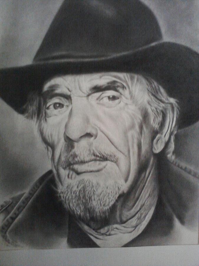 Portrait Drawing - Merle Haggard by Dean Nosinner