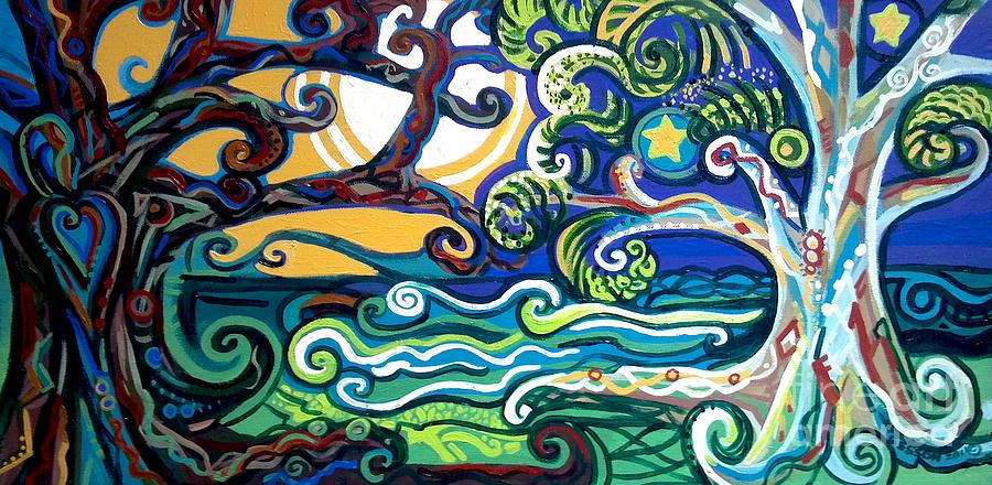 Merlin Painting - Merlin Tree Heart-hur by Genevieve Esson