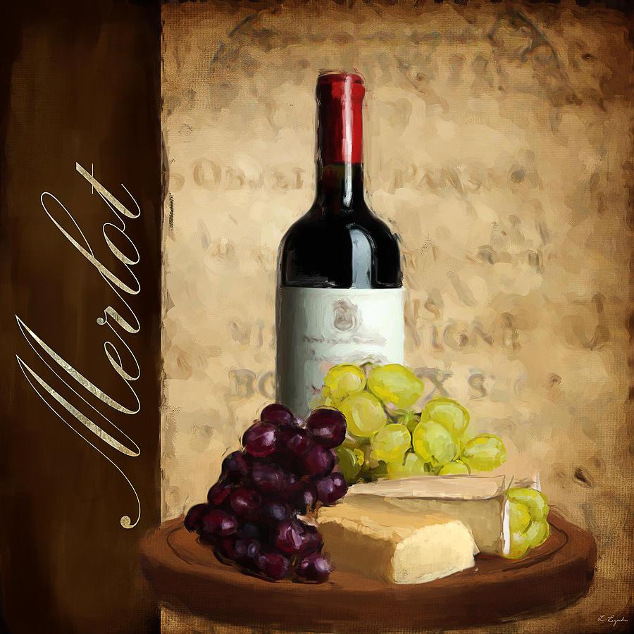 Wine Painting - Merlot IIi by Lourry Legarde