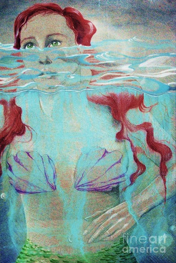 My Daughter Digital Art - Mermaid by Allison Gibbons