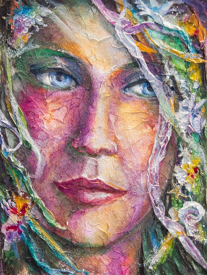 P Allingham Carlson Painting - Mermaid Bride by Patricia Allingham Carlson