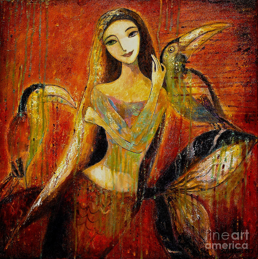 Mermaid Painting - Mermaid Bride by Shijun Munns