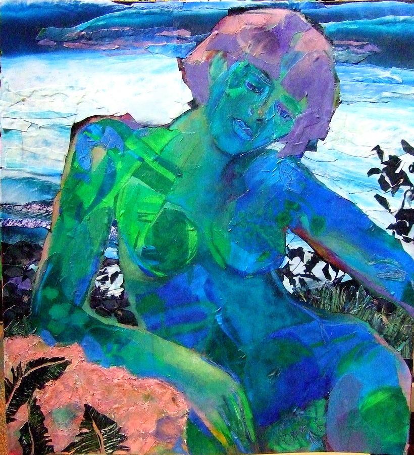 Acrylic Painting Mixed Media - Mermaid by Diane Fine