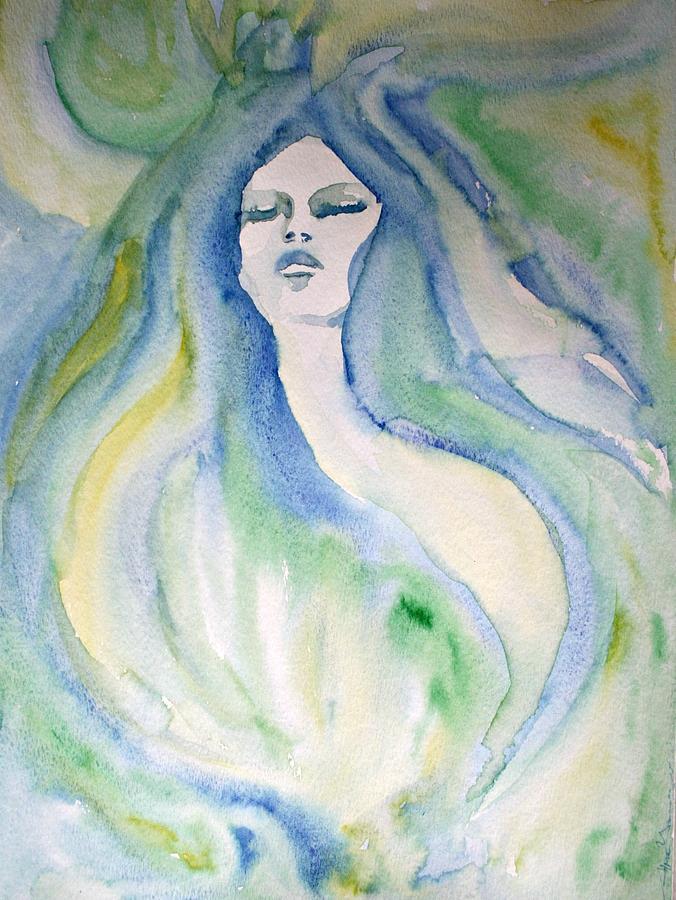 Mermaid Painting - Mermaid Dream by Alma Yamazaki
