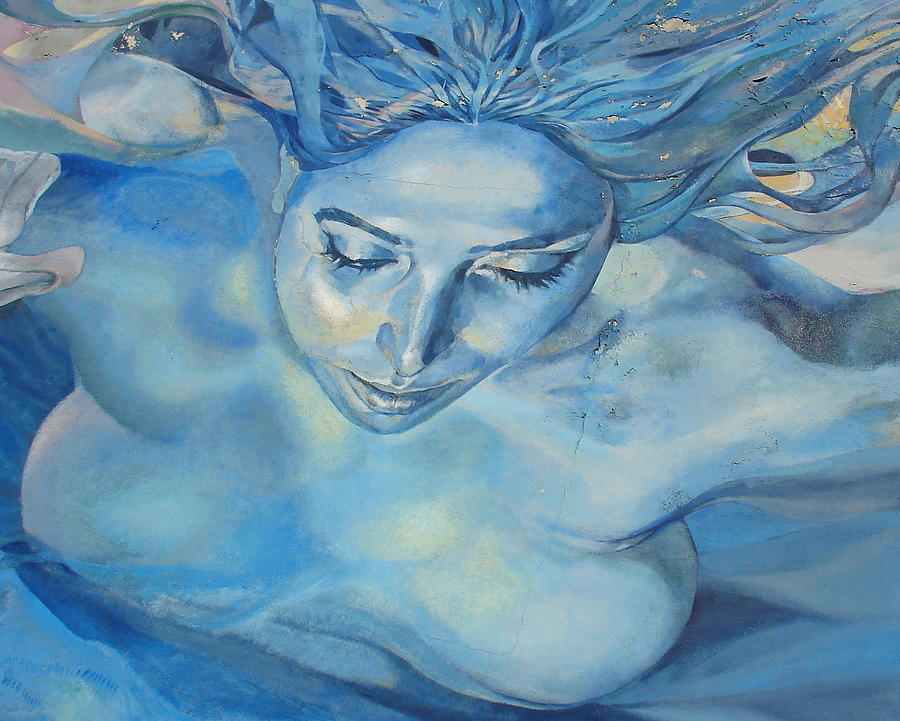 Blue Photograph - Mermaid by Ramona Johnston
