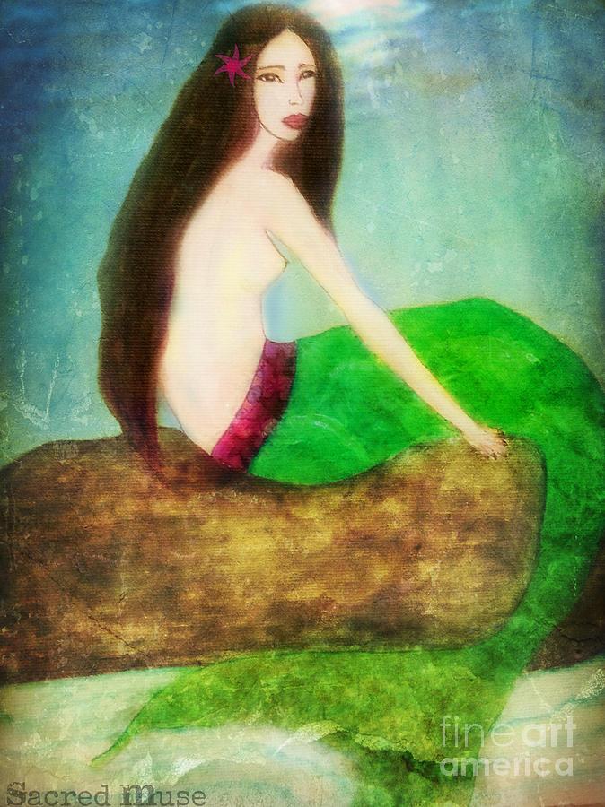 Mermaid Painting - Mermaid  by Sacred  Muse