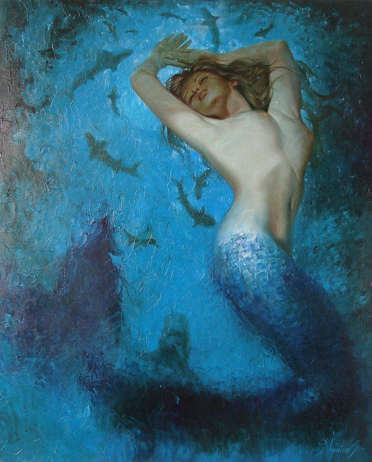 Mermaid Painting by Sergey Ignatenko