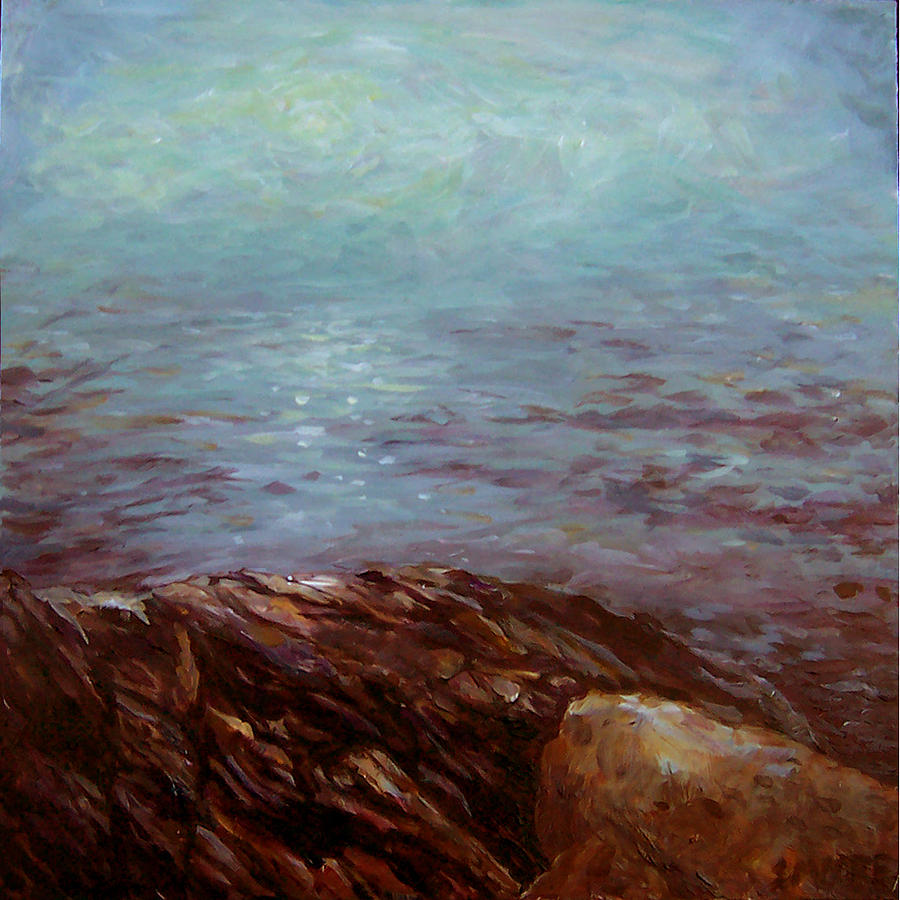Seascape Painting - Mermaids Below by Susan Moore