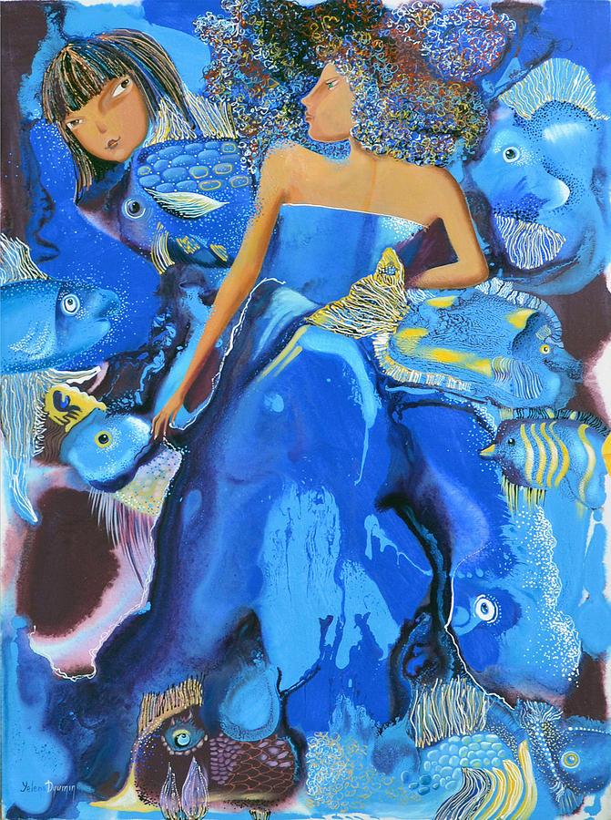 Yelena Dyumin Painting - Mermaids by Yelena Revis