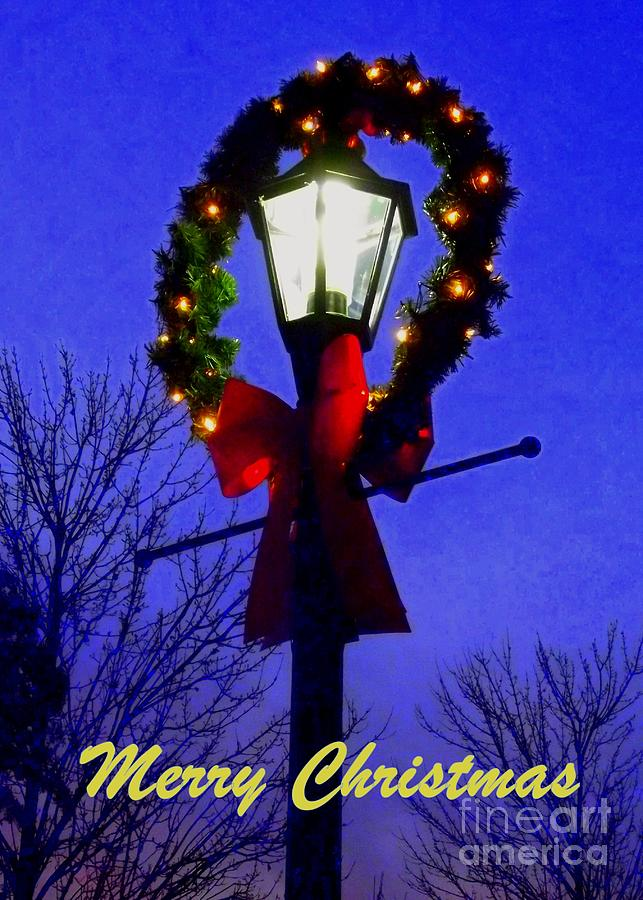 5x7 Greeting Card Photograph - Merry Christmas - 5x7 Greeting Card by Cheryl Hardt Art