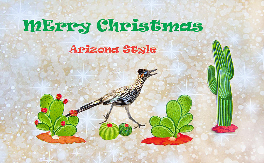 Merry Christmas-arizona Style Photograph by Barbara Manis