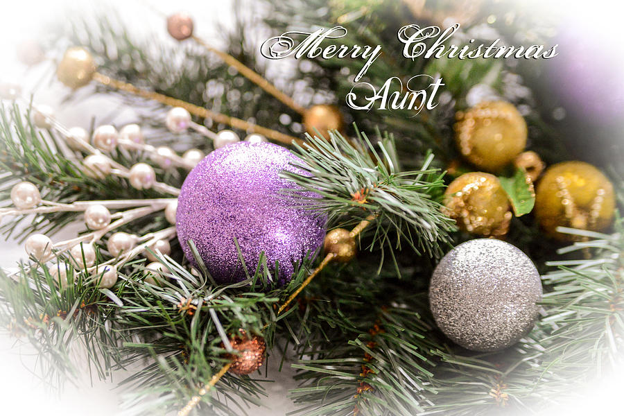 Merry Christmas Aunt Greeting Card Photograph by Mary Timman