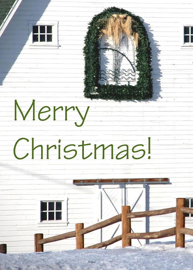 Merry Christmas Barn 1186 Photograph