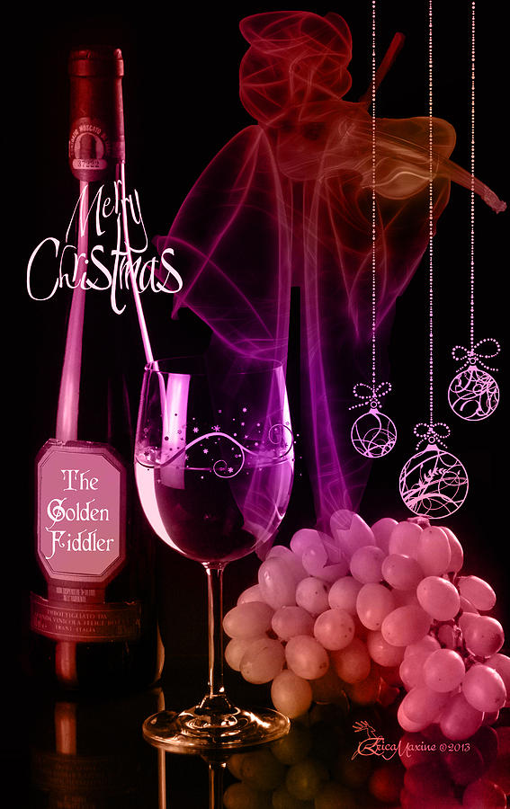 Wine Photograph - Merry Christmas by EricaMaxine  Price