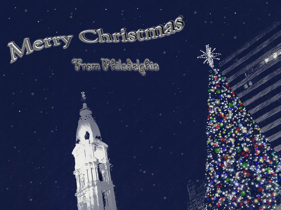 Merry Photograph - Merry Christmas From Philly by Photographic Arts And Design Studio