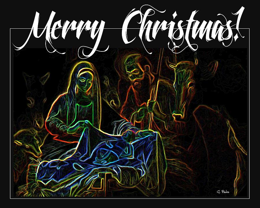 Christmas Painting - Merry Christmas by George Pedro