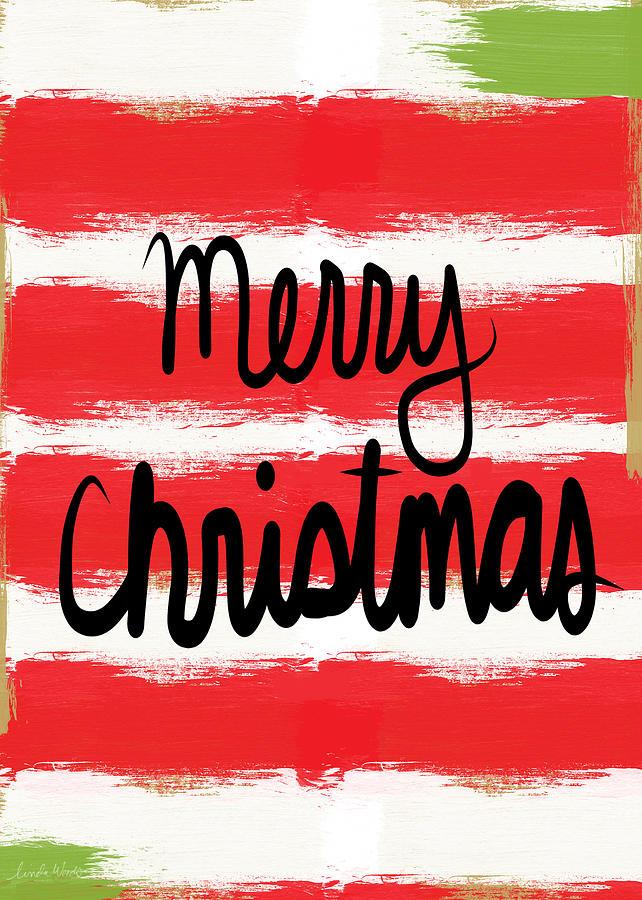 Merry Christmas- Greeting Card Mixed Media
