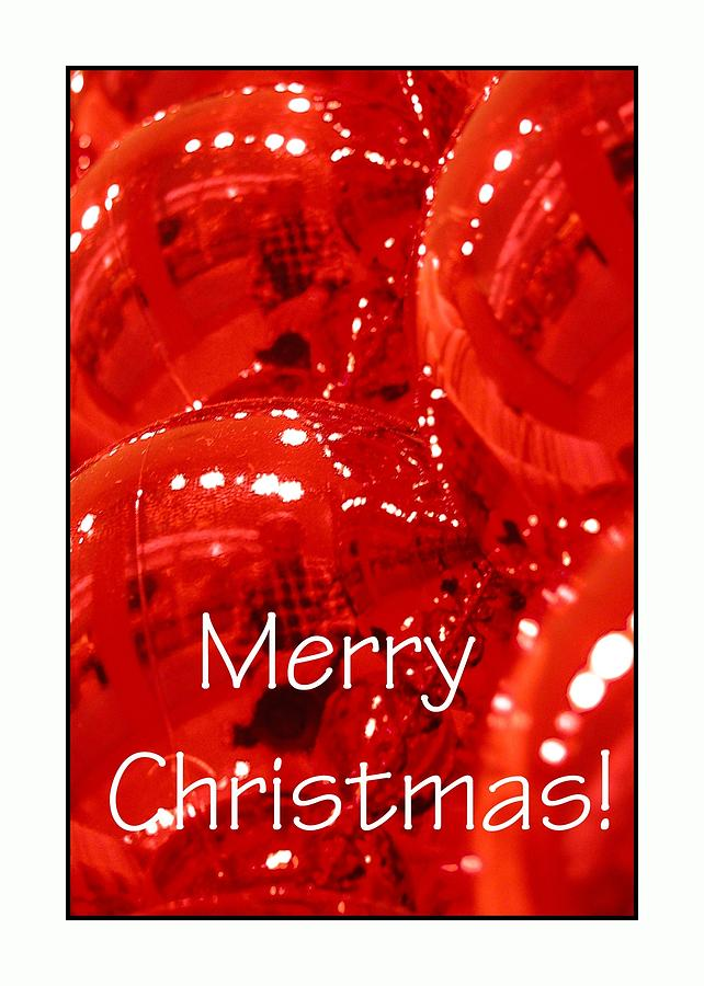 Merry Christmas Red 5607 Photograph