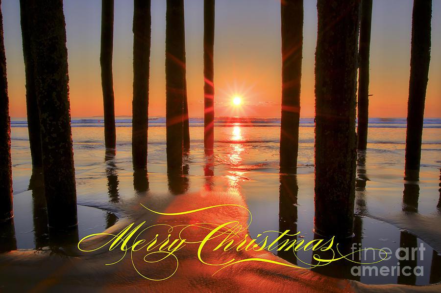 Christmas Photograph - Merry Christmas Sunrise by Brenda Giasson