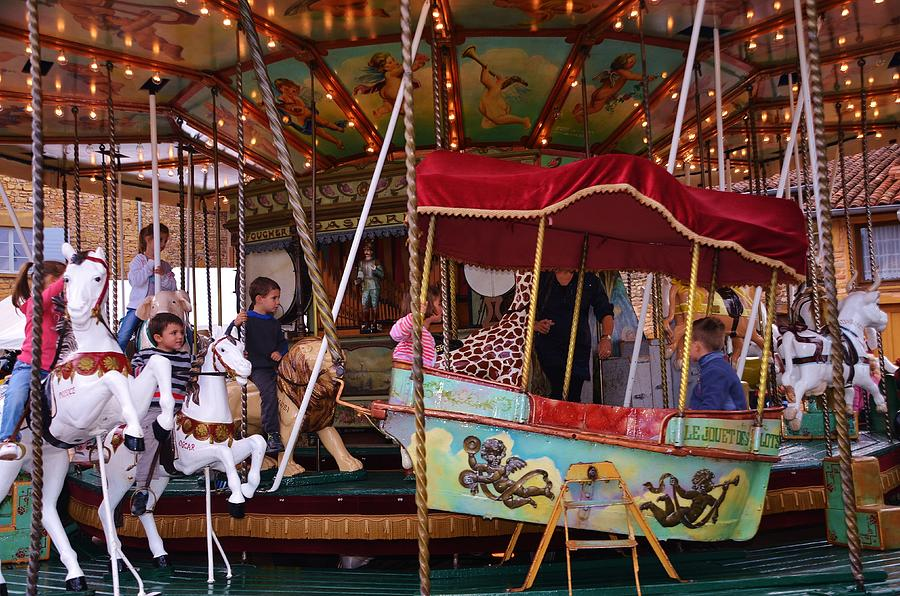 Amusement Photograph - Merry Go Round by Dany Lison