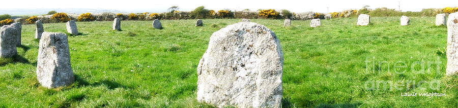 Stone Circle Photograph - Merry Maidens Stone Circle Cornwall by Lainie Wrightson