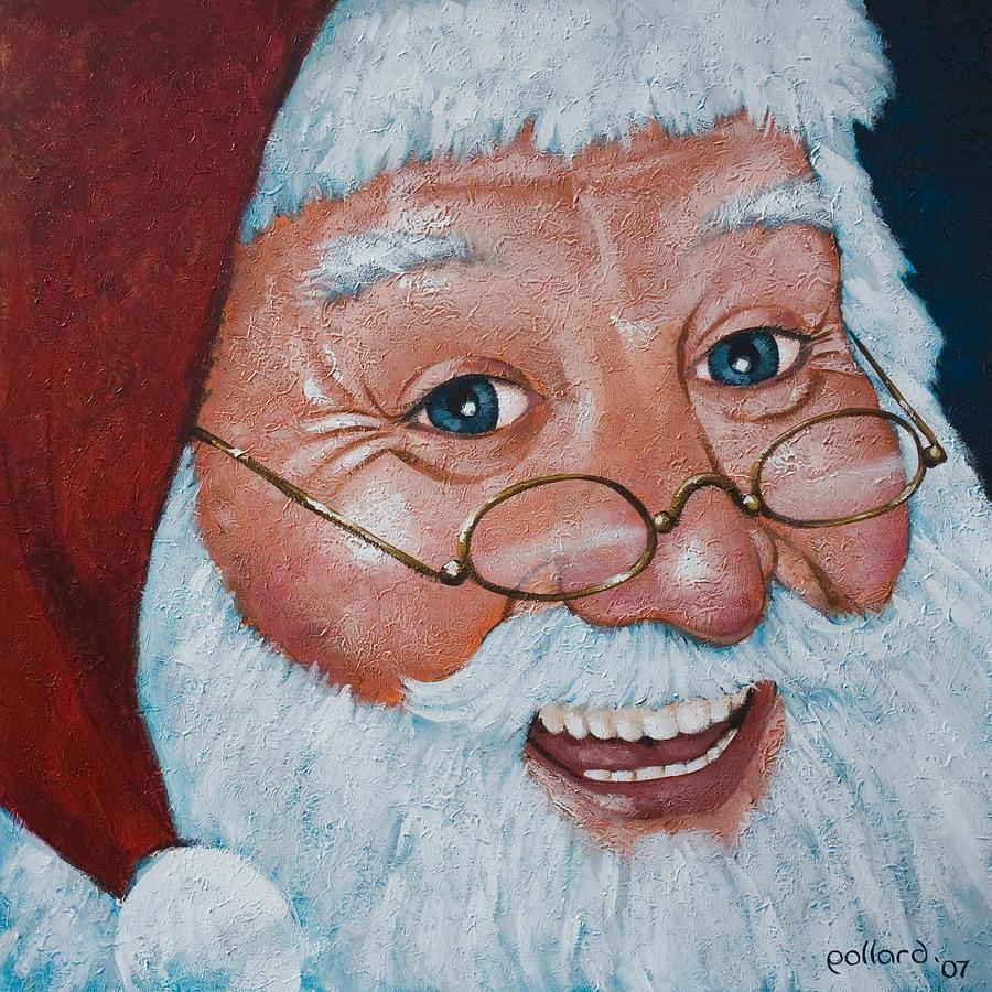 Santa Painting - Merry Santa by Glenn Pollard