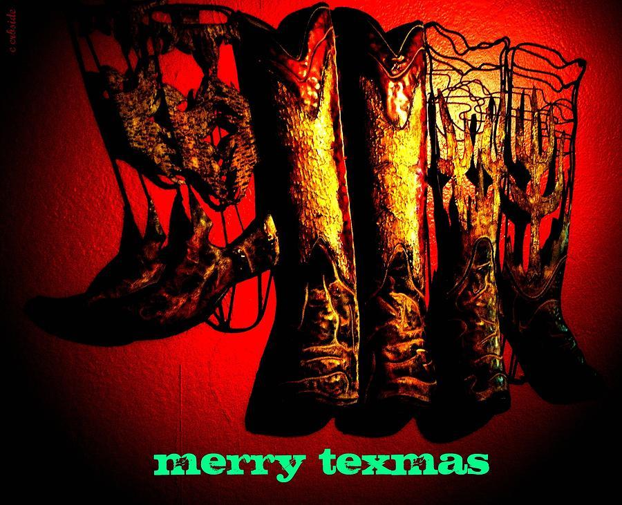 Christmas Photograph - Merry Texmas by Chris Berry